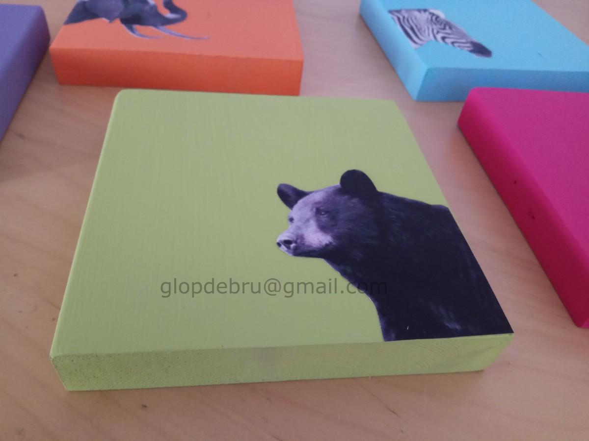 ulnae bones artesania animal blanco negro oso