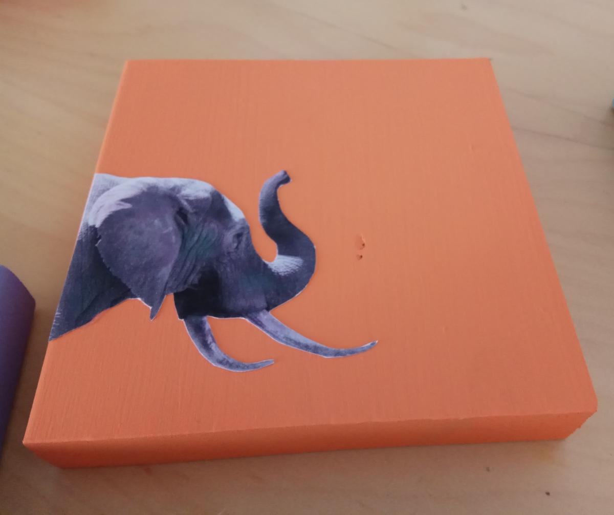 ulnae bones artesania animal blanco negro elefante